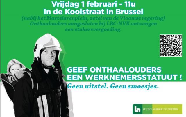 Actie voor werknemersstatuut op 1 februari