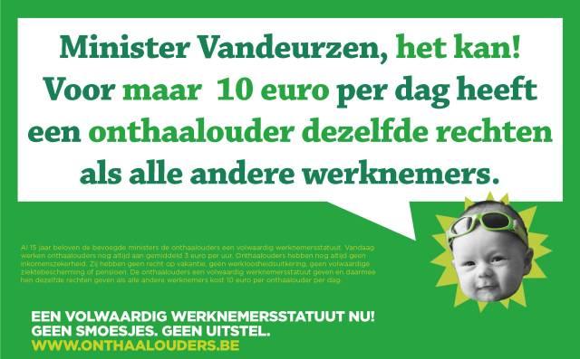 """LBC-NVK lanceert affiche """"Minister Vandeurzen, het kan!"""""""