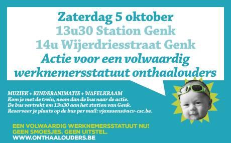 LBC-NVK organiseert actie werknemersstatuut onthaalouders op 5 oktober in Genk