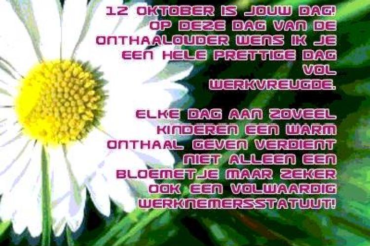 Dag van de onthaalouder op vrijdag 12 oktober: laten we hen niet vergeten